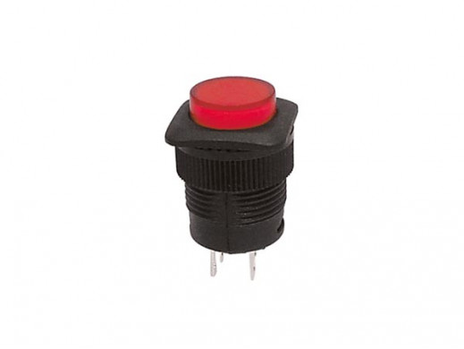 PUSH-BUTTON SWITCH OFF-ON WITH RED LED