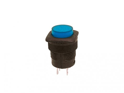PUSH-BUTTON SWITCH OFF-ON WITH BLUE LED