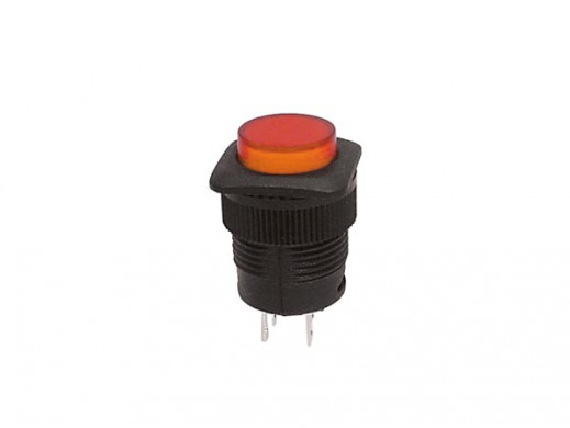 PUSH-BUTTON SWITCH OFF-(ON) WITH ORANGE LED