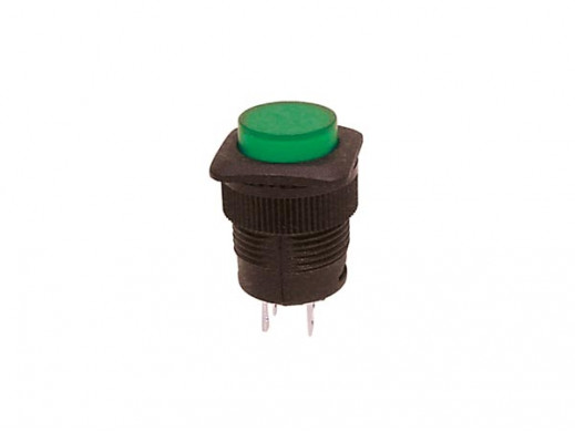 PUSH-BUTTON SWITCH OFF-(ON) WITH GREEN LED