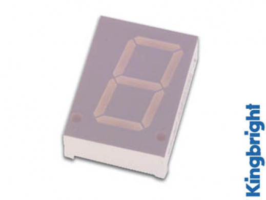 20mm SINGLE-DIGIT DISPLAY COMMON ANODE YELLOW