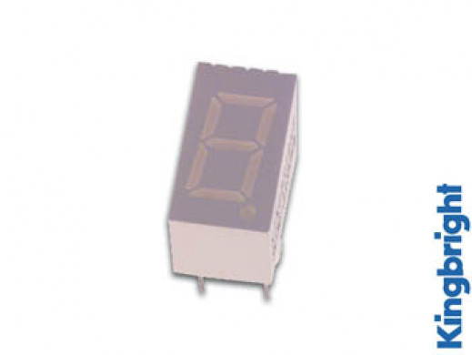9mm SINGLE-DIGIT DISPLAY COMMON ANODE SUPER RED