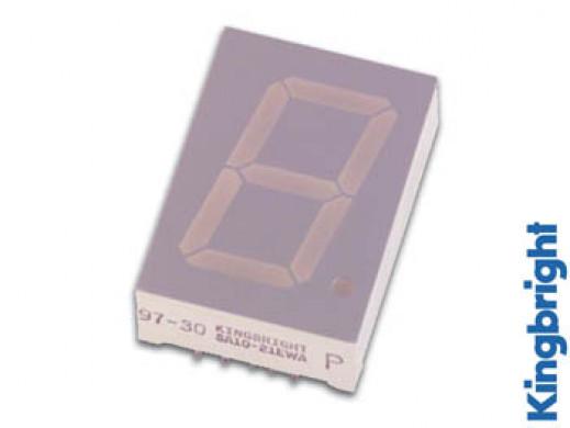 25mm SINGLE-DIGIT DISPLAY COMMON CATHODE SUPER GREEN
