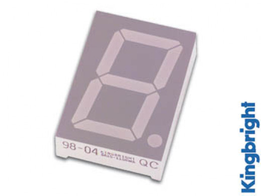 45mm SINGLE-DIGIT DISPLAY COMMON CATHODE SUPER RED