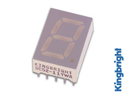 13mm SINGLE-DIGIT DISPLAY COMMON CATHODE SUPER RED