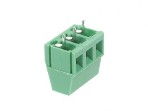 PROFESSIONAL SCREW TERMINAL, 3-POLE, GREEN , 5mm PITCH