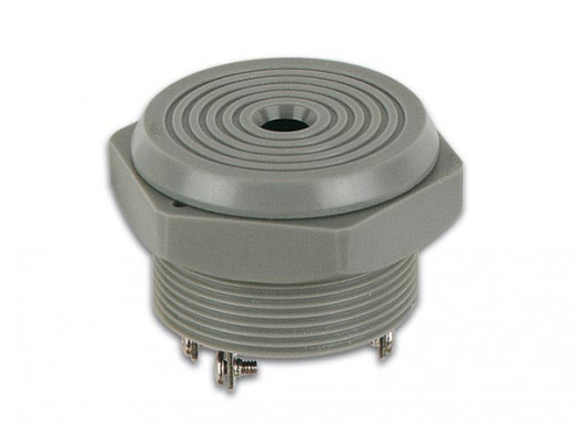 PANEL MOUNTING BUZZER 4-28 VDC / 8 mA
