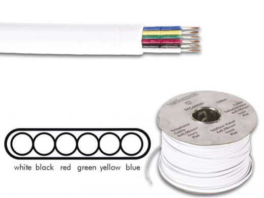 TELEPHONE CABLE 6 x 0.08mm...