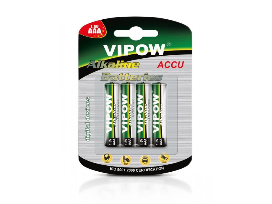 Baterie alkaliczne VIPOW LR03 4szt/bl.