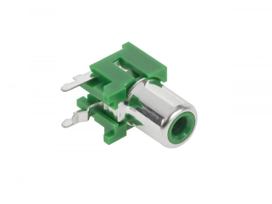 Gniazdo RCA montaż druk zielone