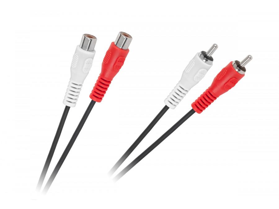 Kabel 2 x RCA wtyk - 2 x RCA gniazdo 5m