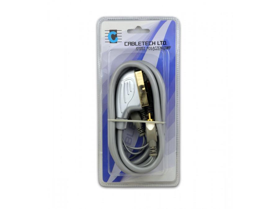 Kabel Euro-4RCA 1.5m łezka