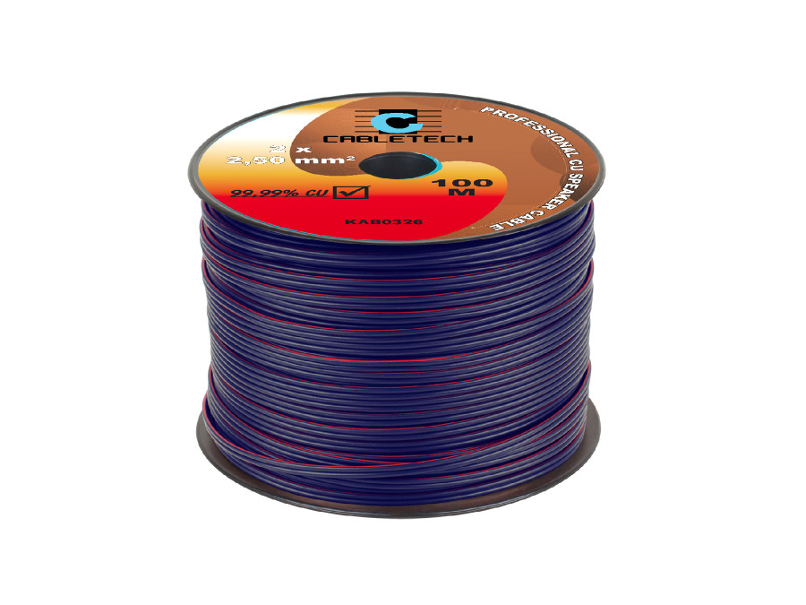 Kabel głośnikowy 2,5mm niebieski