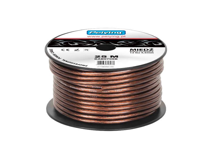 Kabel samochodowy 12Ga OD4.5mm CU 25m