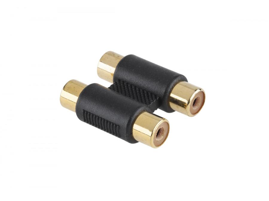 Złącze RCA-RCA/x2/złote