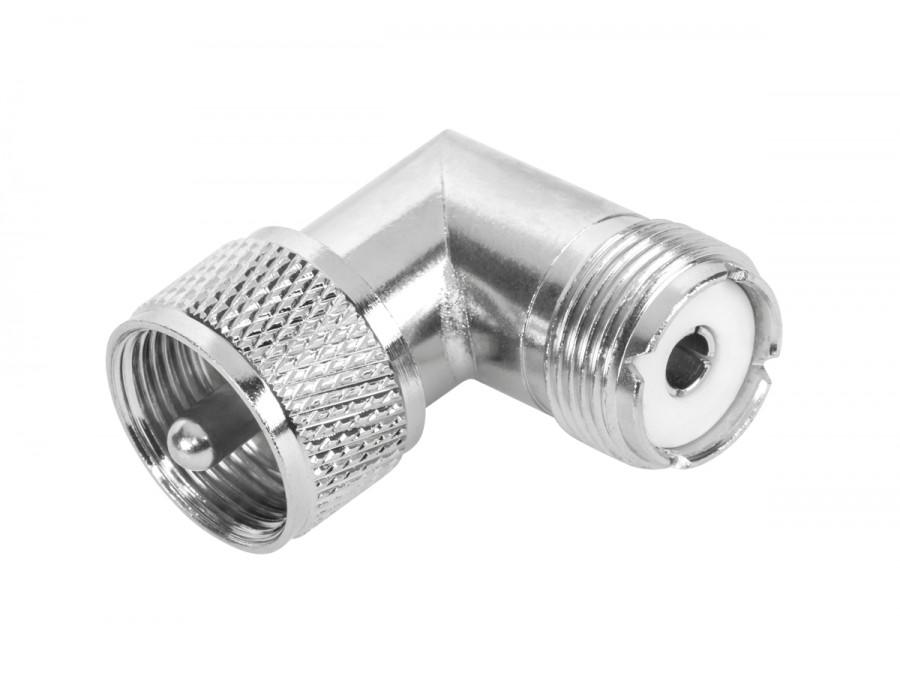 Złącze UHF wtyk-gniazdo kątowe