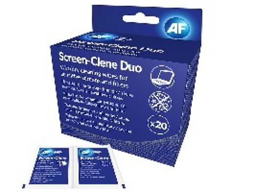 Chusteczki czyszczące AF SCREEN CLENE DUO DRY & WET 20pairs