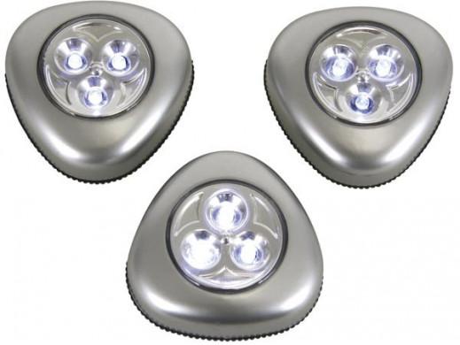 LAMPY LED SAMOPRZYLEPNE - 3 szt.