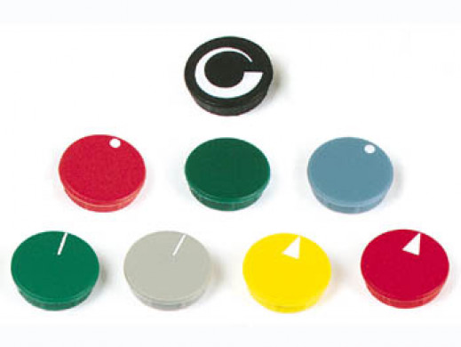 LID FOR 28mm BUTTON (BLACK - WHITE LINE)