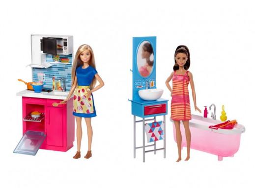 Barbie Mebelki + lalka Ast.