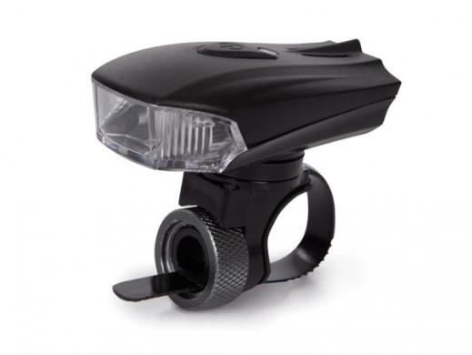 ALUMINIOWA LAMPKA ROWEROWA Z CZUJNIKIEM ŚWIATŁA I ŁADOWANIEM USB
