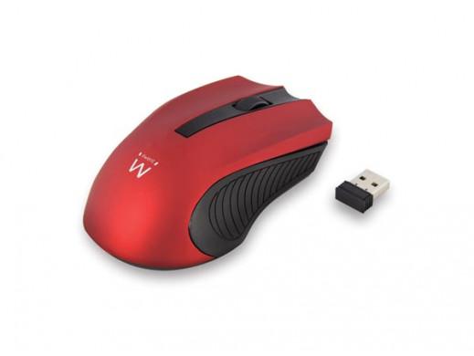 EWENT - WIRELESS OPTICAL MOUSE - USB nano - red - 1000 dpi