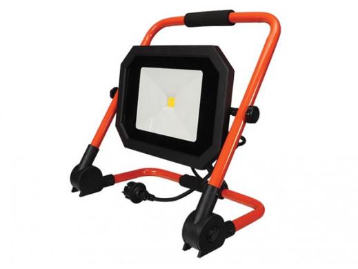 PRZENOŚNA SKŁADANA LAMPA ROBOCZA LED - 50 W - 4000 K - kabel 1,5 m + wtyczka EU