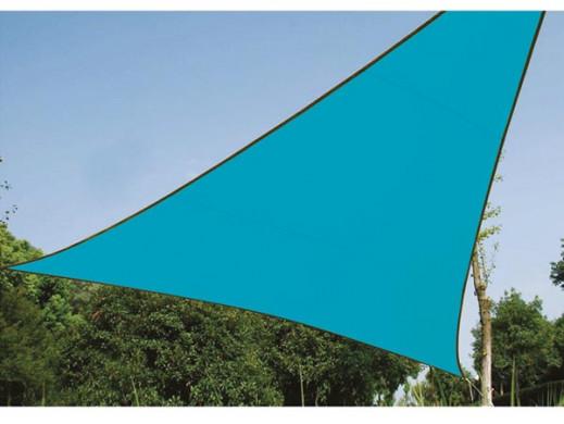 TRÓJKĄTNY ŻAGIEL PRZECIWSŁONECZNY - 3,6 x 3,6 x 3,6 m, kolor: BŁĘKITNY