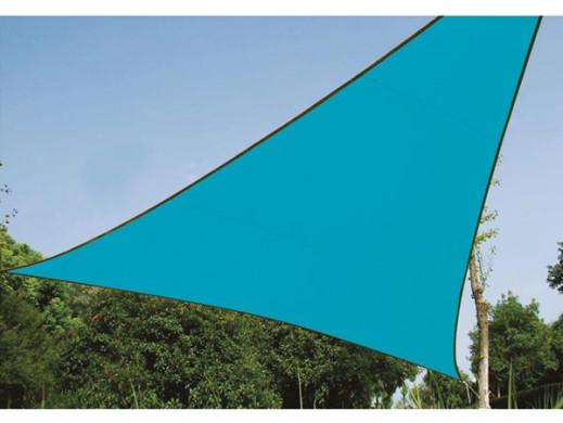 TRÓJKĄTNY ŻAGIEL PRZECIWSŁONECZNY- 5 x 5 x 5 m, kolor: BŁĘKITNY