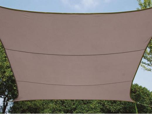 PROSTOKĄTNY ŻAGIEL PRZECIWSŁONECZNY - 2 x 3 m - KOLOR: TAUPE (BRĄZOWOSZARY)