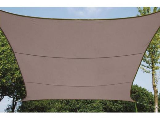 KWADRATOWY ŻAGIEL PRZECIWSŁONECZNY - 5 x 5m, kolor: Taupe (brązowoszary)