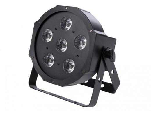 FLAT PAR - 6 x 3 W UV LED