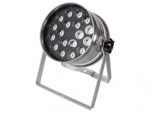 LED PAR 64 RGBW 18 x 4 W - CHROM