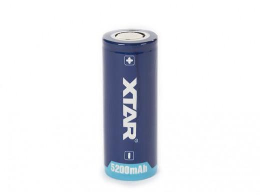 XTAR - LITOWO-JONOWE 3,6 V - 5000 mAh - 26650 - OGNIWO DOŁADOWYWANE OKRĄGŁE