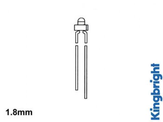 STANDARDOWA ŻARÓWKA LED 1.8mm ŻÓŁTA ROZPROSZONA