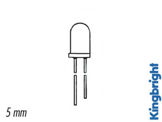 5mm RESISTOR LED LAMPS 5V...