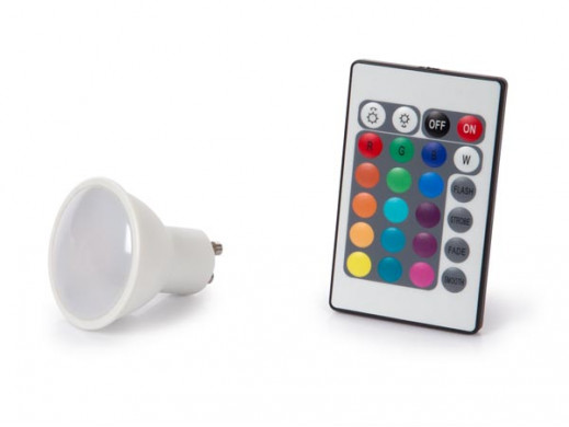 LAMPA LED - 4 W - GU10 - RGB I CIEPŁA BIEL