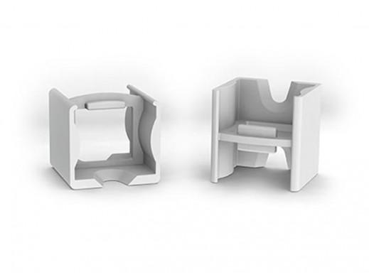 ŁĄCZNIK LINIOWY ABS DO PROFILU LED SLIMLINE 15 mm - SZARY