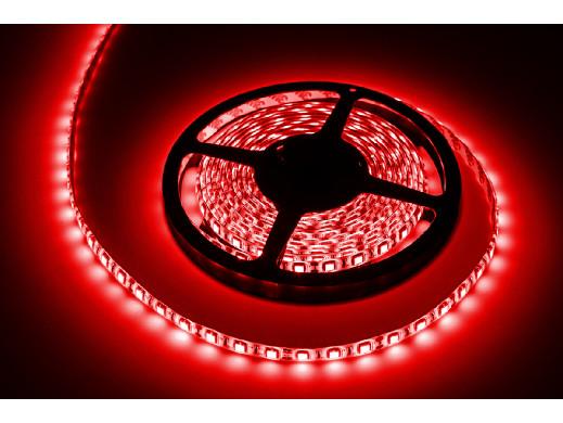 Sznur diodowy 5m Rebel ,  wodoodporny, czerwony (300x5050 SMD)- białe PCB