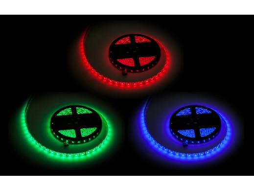 Sznur diodowy 5m  Rebel RGB (300x5050 SMD) , wodoodporny- białe PCB
