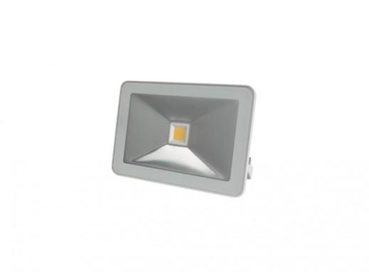 STYLOWY REFLEKTOR LED - 10 W, CIEPŁY BIAŁY - KOLOR BIAŁY