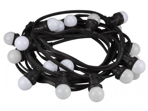 LAMPKI IMPREZOWE LED - 20 LAMPEK LED O BARWIE BIAŁEJ CIEPŁEJ
