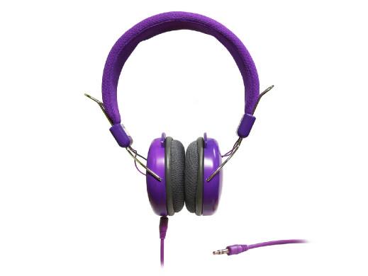 SŁUCHAWKI STEREO z mikrofonem  ART AP-60MC fioletowe
