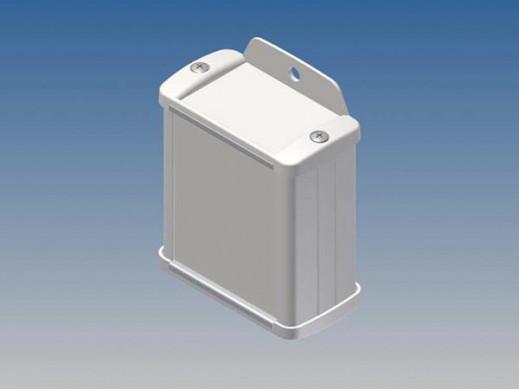 ALUMINIUM HOUSING - WHITE - 70 x 59.9 x 30.9 mm - with flange