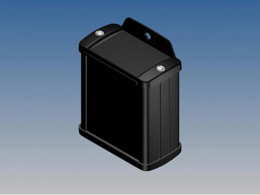 ALUMINIUM HOUSING - BLACK - 70 x 59.9 x 30.9 mm - with flange