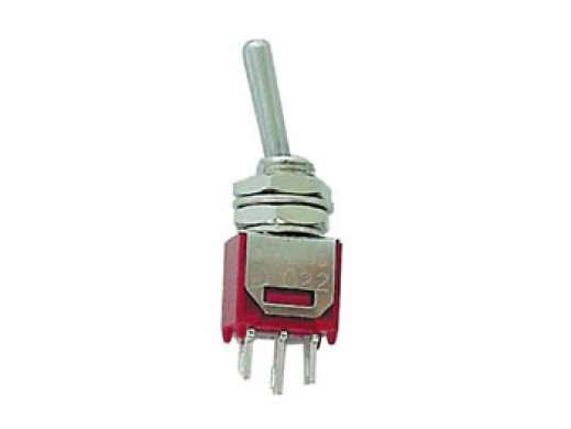 VERTICAL SUBMINIATURE TOGGLE SWITCH SPDT ON-ON