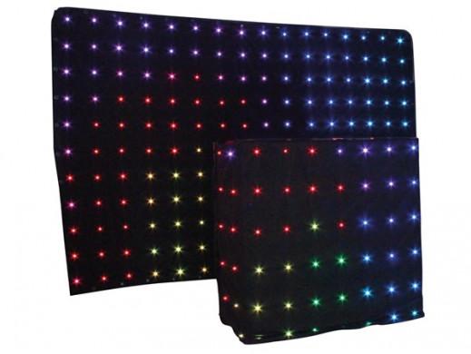 LED STARCLOTH III - GWIEZDNA KURTYNA RGB 2 x 3 m + DJ STARDROP