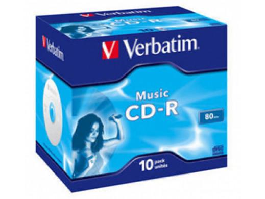 CD-R Audio VERBATIM LIVE IT! JC 10Pack 43365