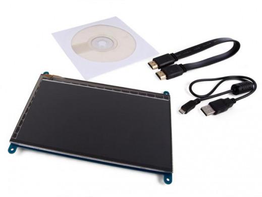 """EKRAN DOTYKOWY HDMI-B 7"""" 800 x 480 DLA RASPBERRY PI®"""