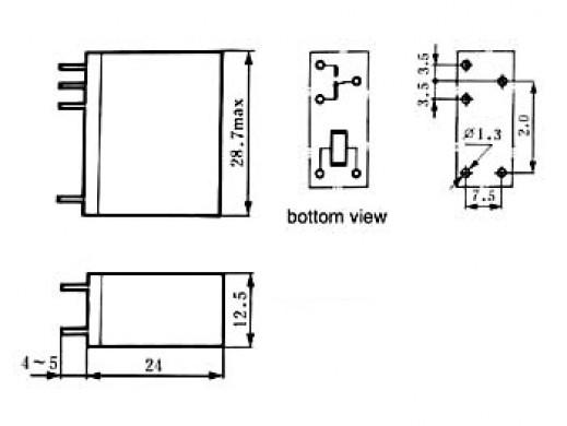 VERTICAL RELAY 10A/30VDC-220VAC 1 x INVERTER 24Vdc